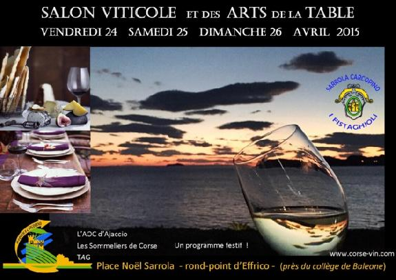 Corse un salon viticole et des arts de la table pour for Salon viticole